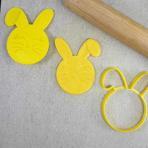 """EASTER BUNNY 3D EMBOSSER & CUTTER SET172"" Custom Cookie Cutters"