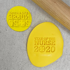 """YEAR OF THE NURSES 2020 710"" Custom Cookie Embosser"