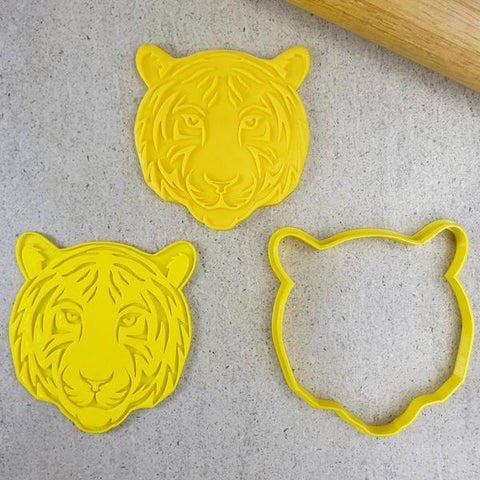 """TIGER FACE 029"" Custom Cookie Cutters"