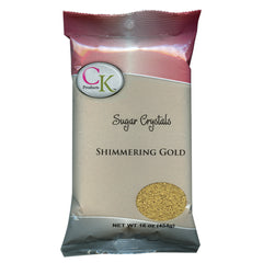 SHIMMERING GOLD Sugar Crystals 1lb Bag