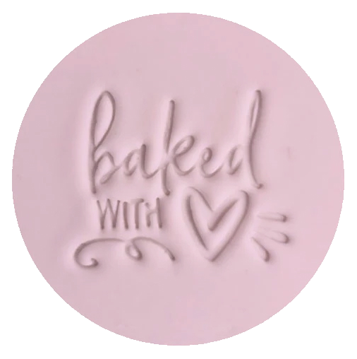 """BAKED WITH LOVE"" Little Biskut Embosser"