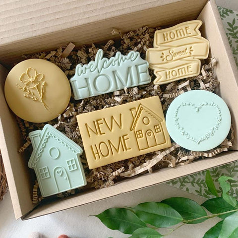 """NEW HOME"" Lissie Lou Stamp Set"
