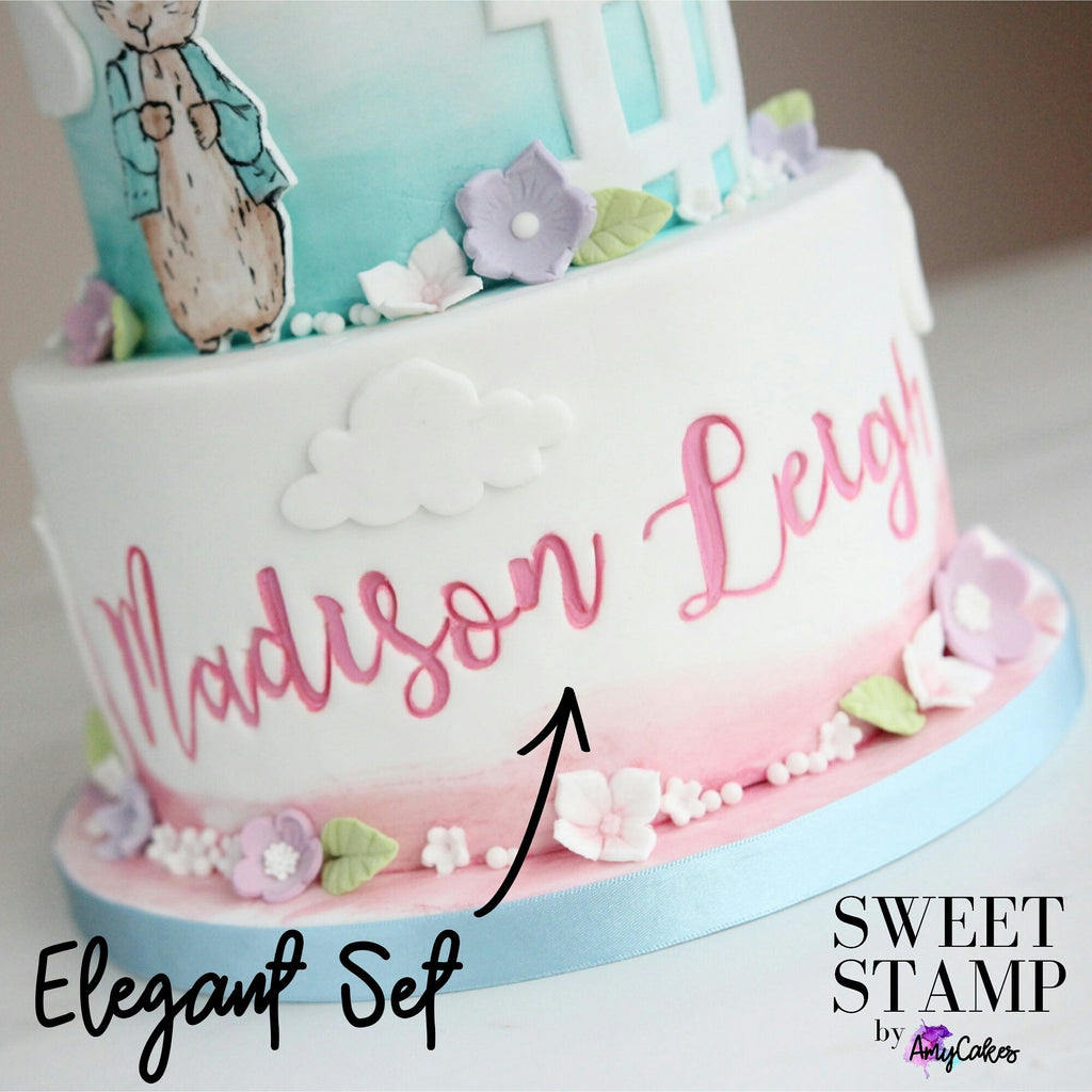 Sweet Stamp: ELEGANT Full Set Upper & Lowercase