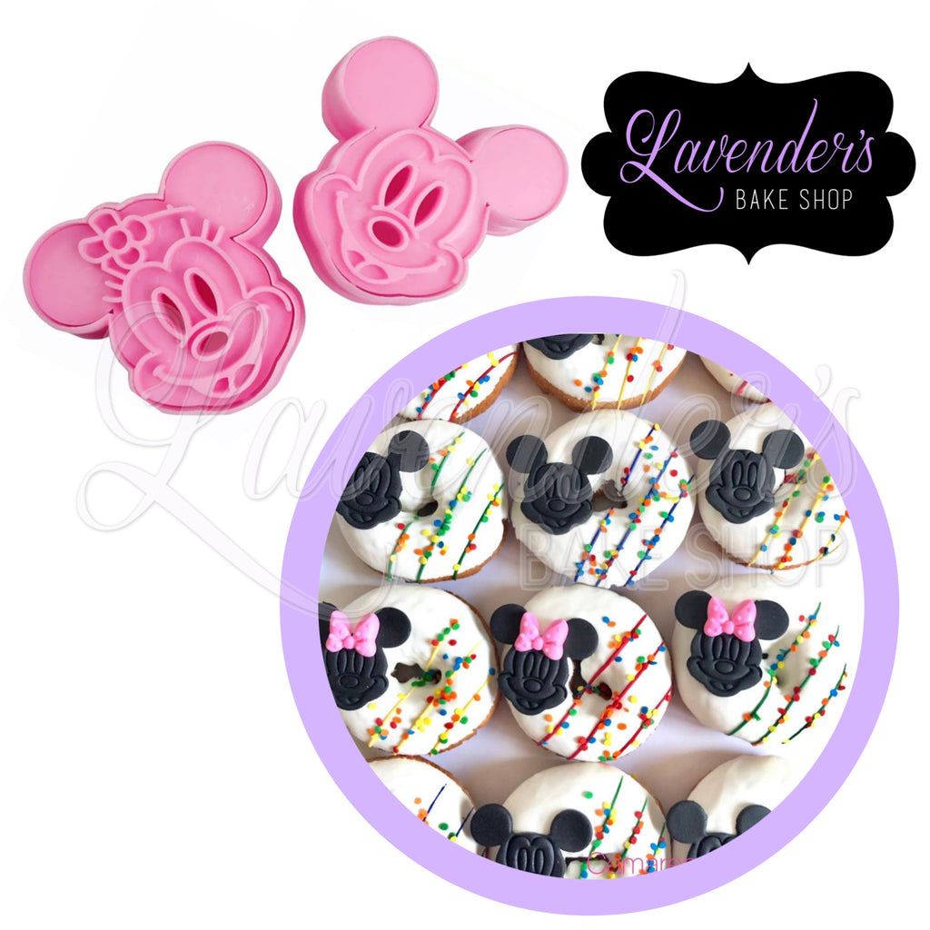 Mickey and Minnie Mouse Cutter and Embosser