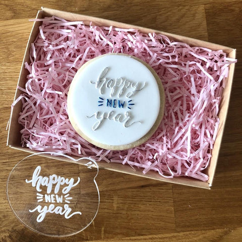 """HAPPY NEW YEAR"" Cookie Embosser Lissie Lou"