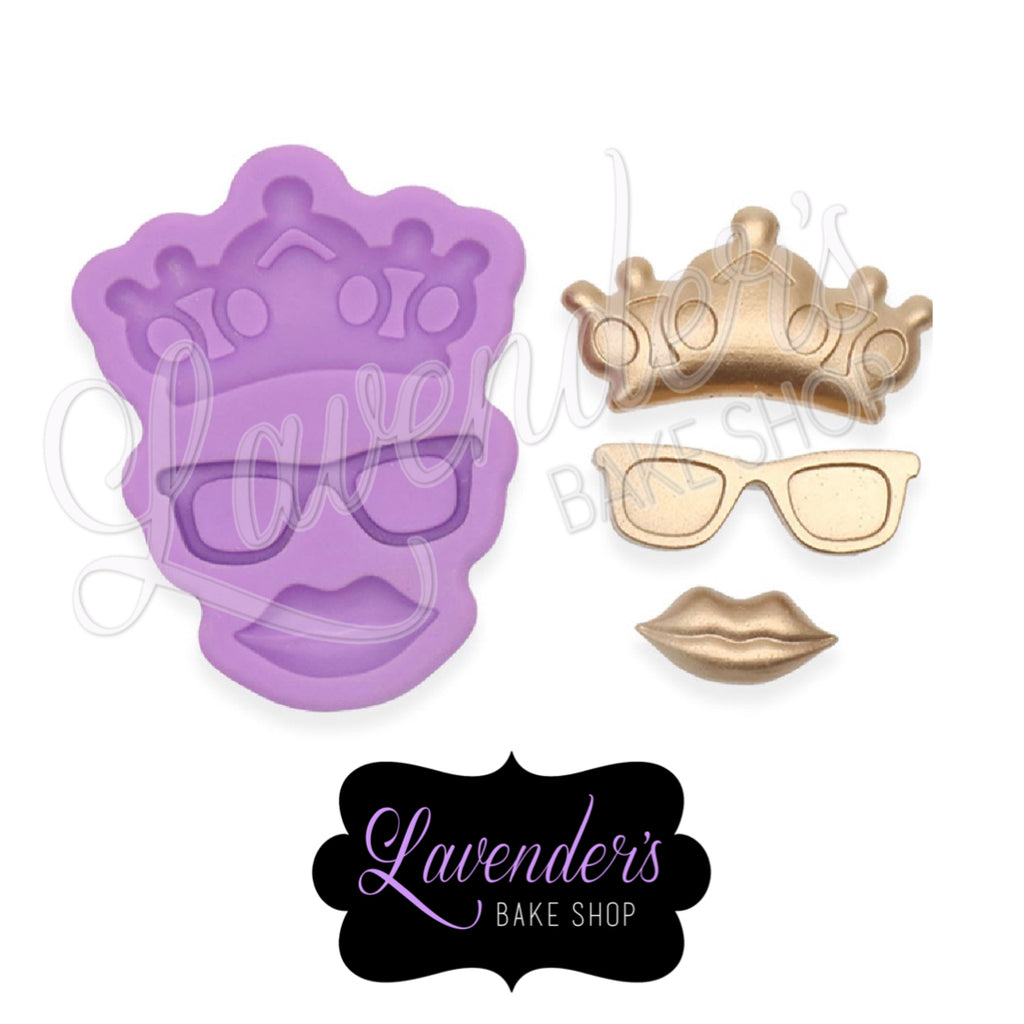 Crown, Sunglasses And Lips