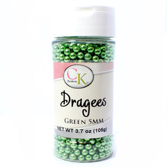 GREEN Dragees 5mm