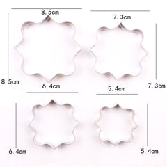 Set Of 4 MINI Square Plaque Cutters