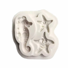 3pc Seahorse And Starfish