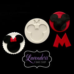 Mickey Mouse Silhouette With Optional Bow