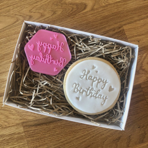 """HAPPY BIRTHDAY WITH HEARTS"" Cookie Stamp Lissie Lou"