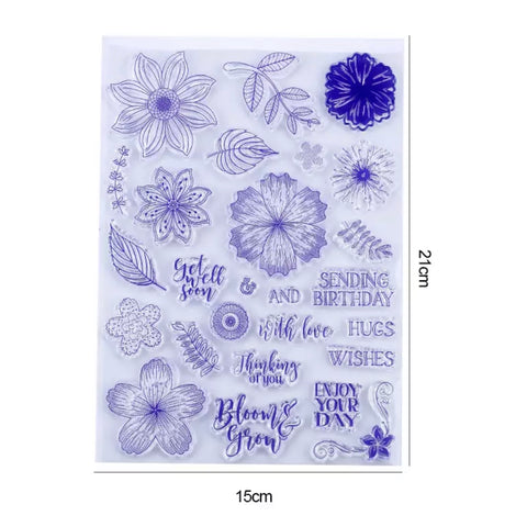 Floral Wishes Clear Stamp Set