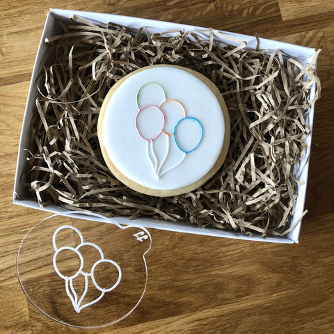 """BIRTHDAY BALLOONS"" Cookie Embosser Lissie Lou"
