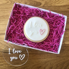 """I LOVE YOU WITH HEART"" Cookie Embosser Lissie Lou"