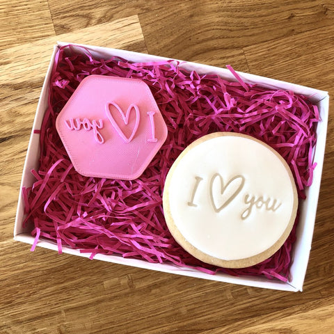 """I HEART YOU IN A LINE"" Cookie Stamp Lissie Lou"