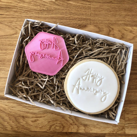"""HAPPY ANNIVERSARY"" Cookie Stamp Lissie Lou"
