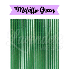 METALLIC Green Paper Straws