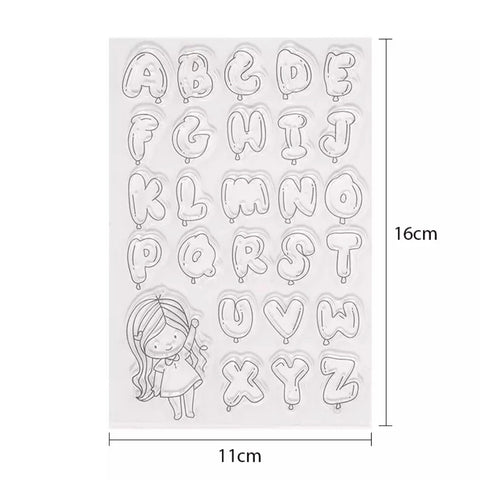 Bubble Font Clear Stamp Set