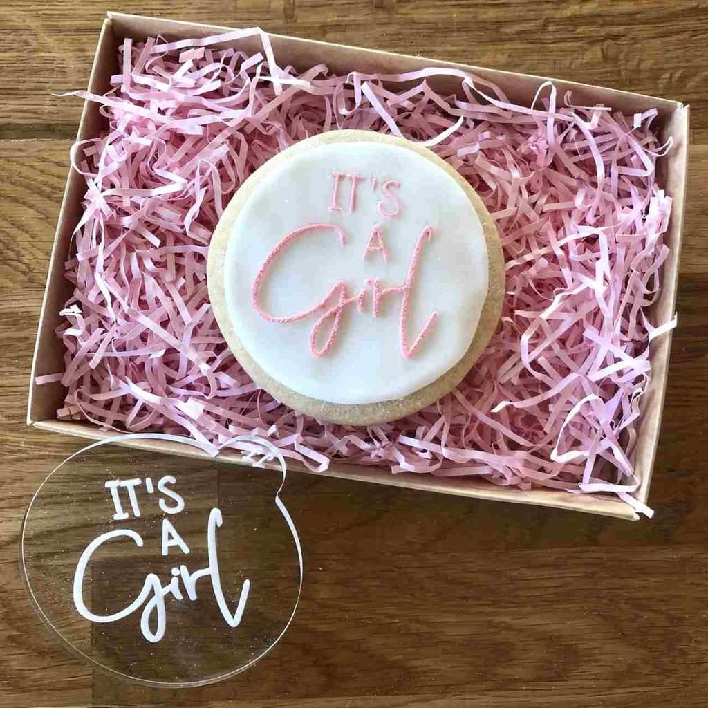 """IT'S A GIRL"" Cookie Embosser Lissie Lou"