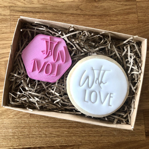 """WITH LOVE"" Cookie Stamp Lissie Lou"