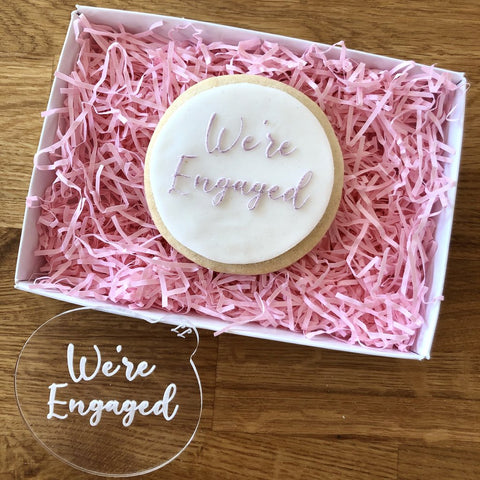 """WE'RE ENGAGED"" Cookie Embosser Lissie Lou"