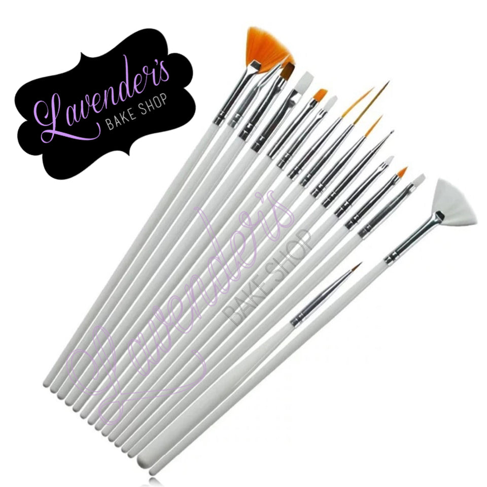 15pc Variety Paint Brush Set