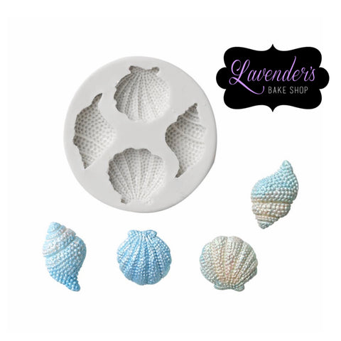 4pc Textured Seashells