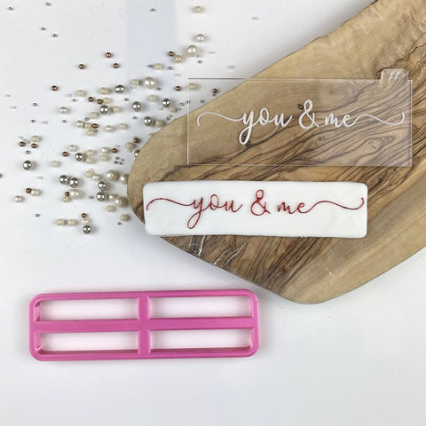 """YOU AND ME IN VERITY FONT"" Embosser Lissie Lou"