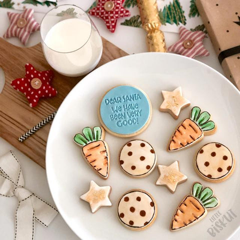 """DEAR SANTA WE HAVE BEEN VERY GOOD"" Little Biskut Embosser"