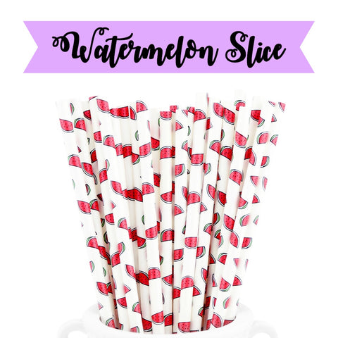 WATERMELON SLICE Paper Straws