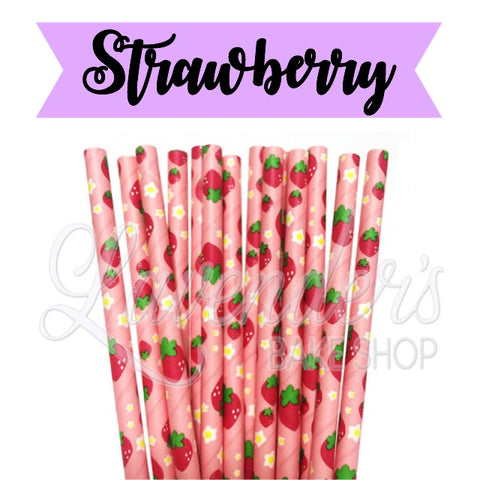 STRAWBERRY Paper Straws