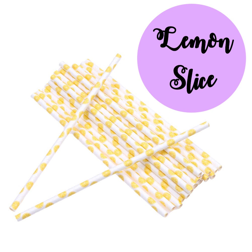 LEMON SLICE Paper Straws
