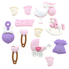 Baby set variety with stork