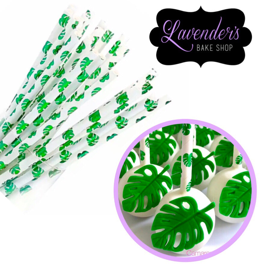 TROPICAL LEAF Paper Straws