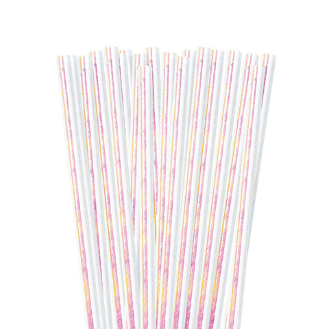 IRIDESCENT Pearl Paper Straws