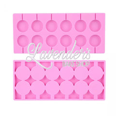 12pc Lollipop Round
