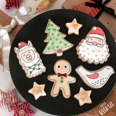 """CHRISTMAS LLAMA"" Little Biskut Embosser And Cutter"