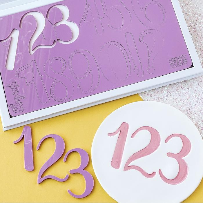 Sweet Stamp: GIANT ELEGANT Numbers & Symbols