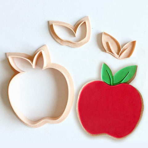 'APPLE' Cutter Set Little Biskut Design