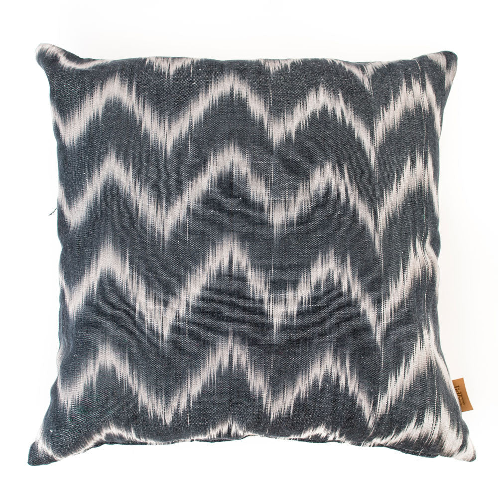 Lidby Living Cushion in Black and White Zigzag - Thompson Clarke - 1