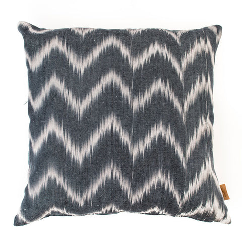 Lidby Living Cushion in Black and White Zigzag
