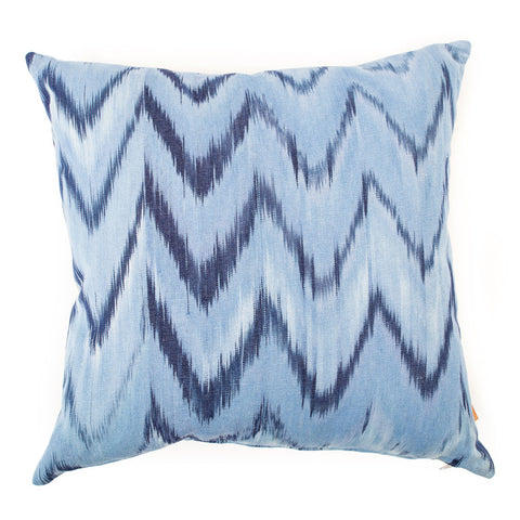 Lidby Living Cushion in Blue/ Indigo Zigzag