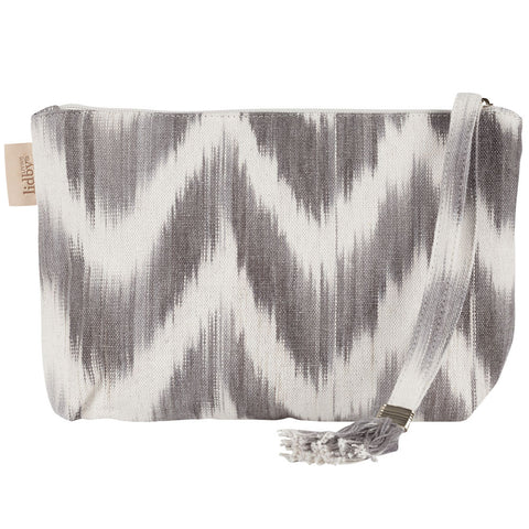 Lidby Living Grey Ikat Clutch Bag