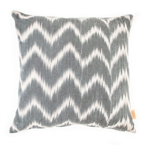 Lidby Living Cushion in Grey ZigZag