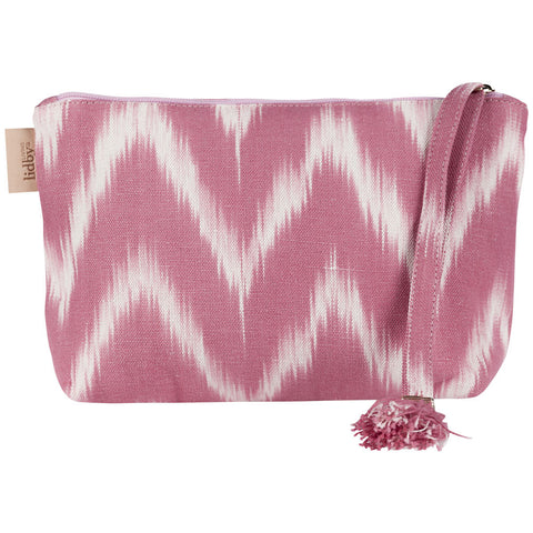 Lidby Living Pink Ikat Clutch Bag