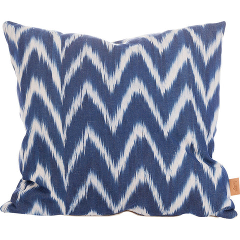 Lidby Living Cushion in Indigo White