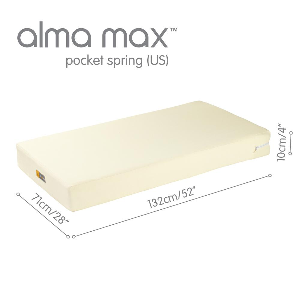 alma max pocket spring mattress