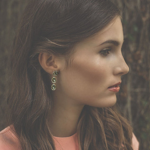 MINI ELLA THREE DROP EARRINGS