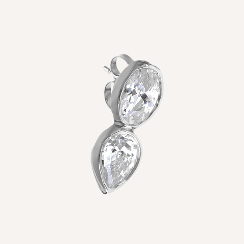 OVAL/PEAR SINGLE STUD