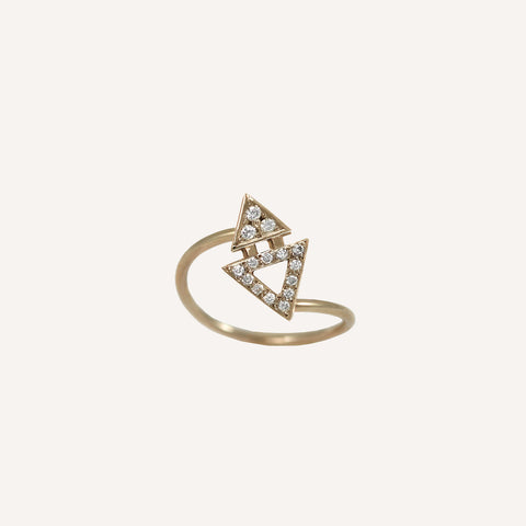 ALL DIAMOND MINI TRIANGLE RING
